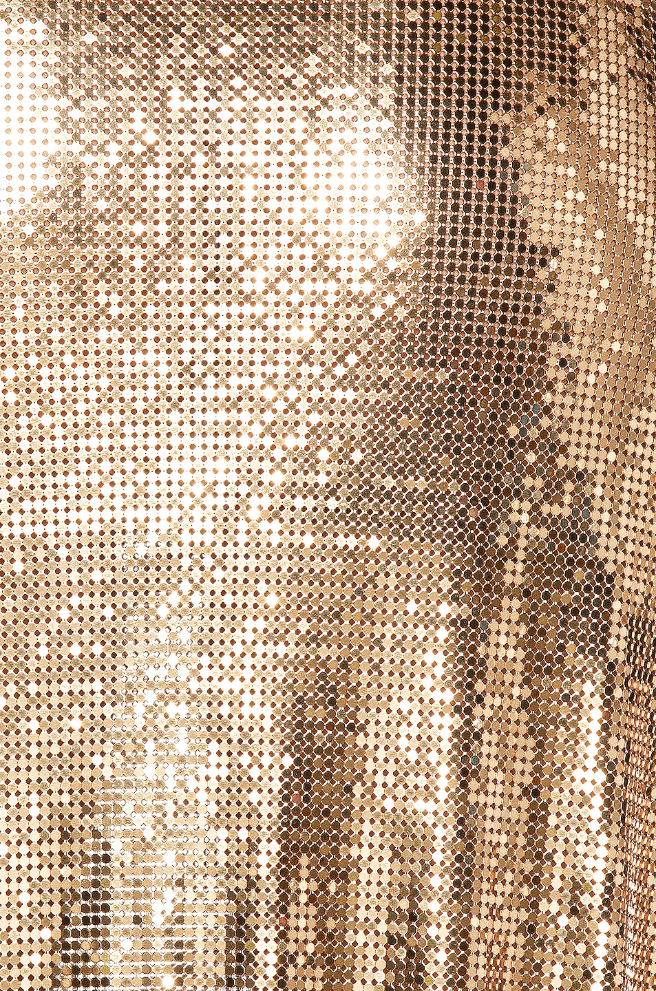 Image 6 of PACO RABANNE Mesh Skirt in Gold