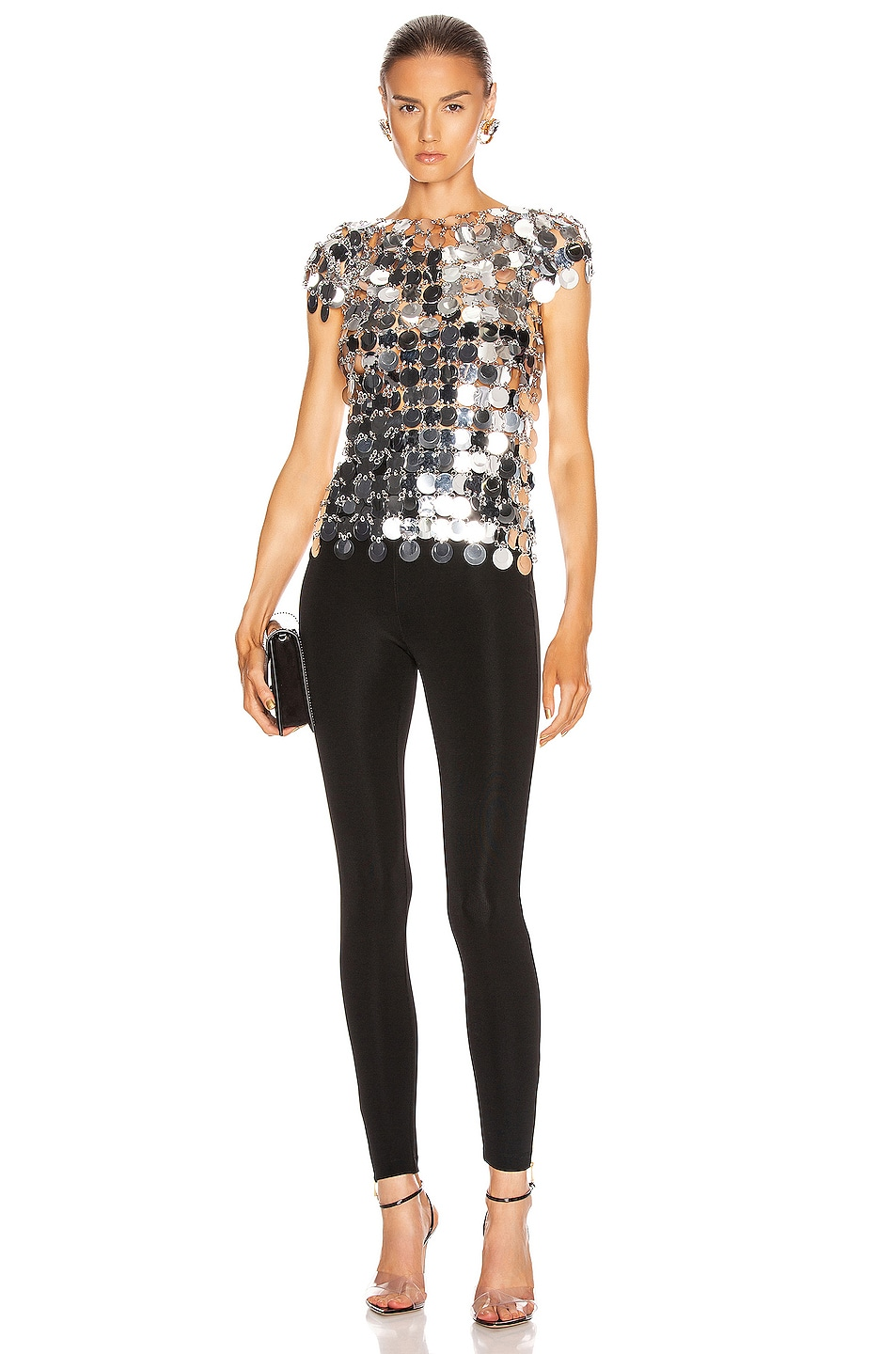 Image 4 of PACO RABANNE Sequin Top in Silver