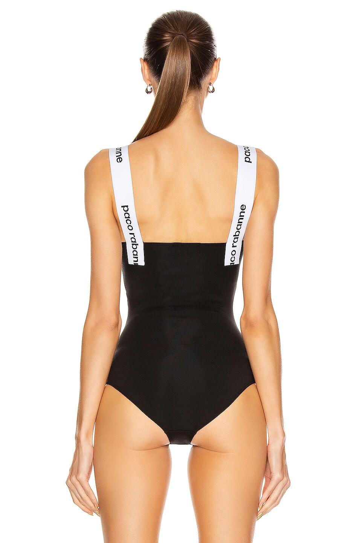 Image 4 of PACO RABANNE Logo Strap Bodysuit in Black
