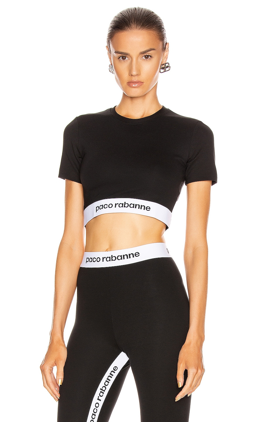 Image 1 of PACO RABANNE Crop Top in Black