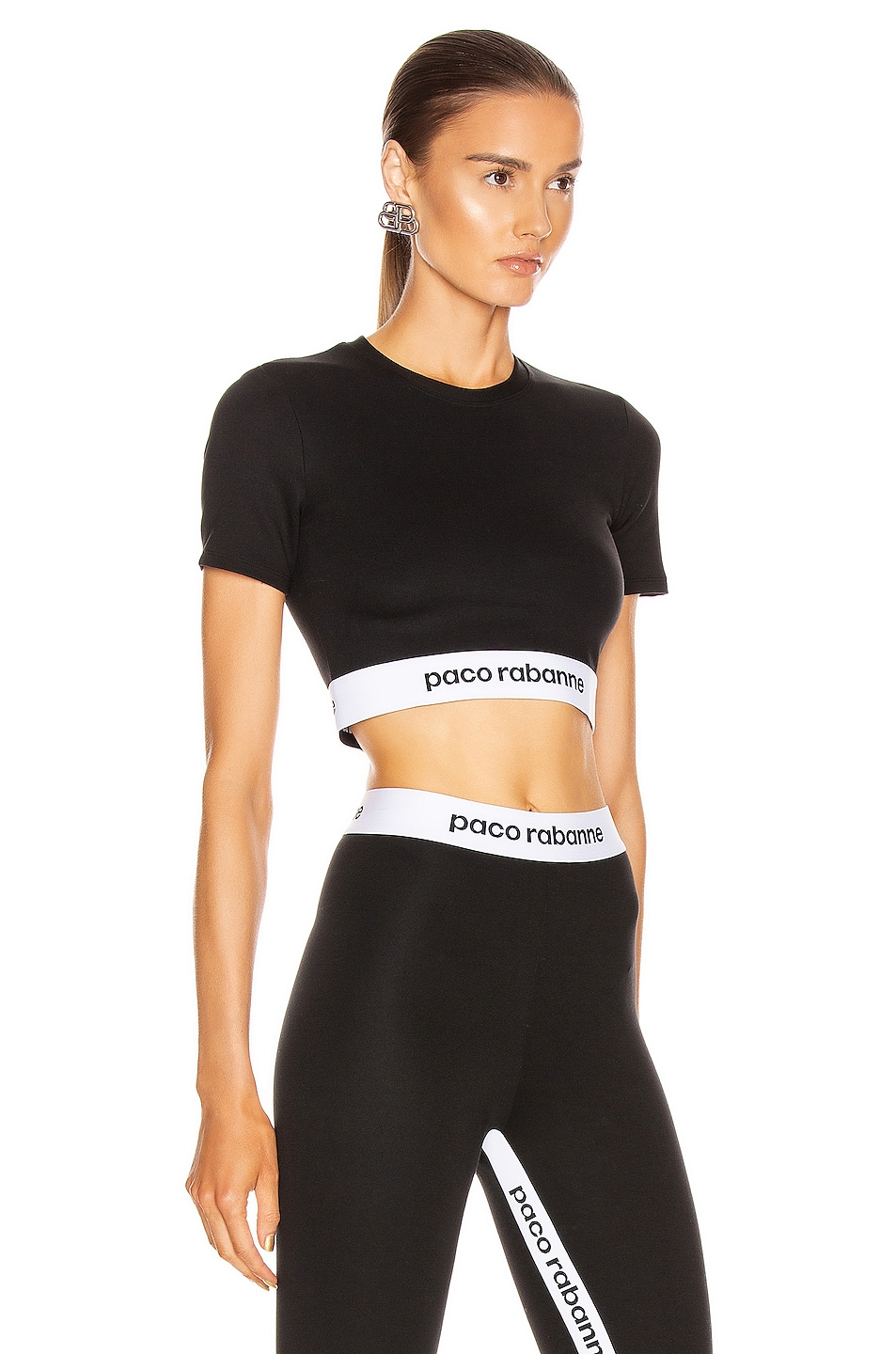 Image 2 of PACO RABANNE Crop Top in Black