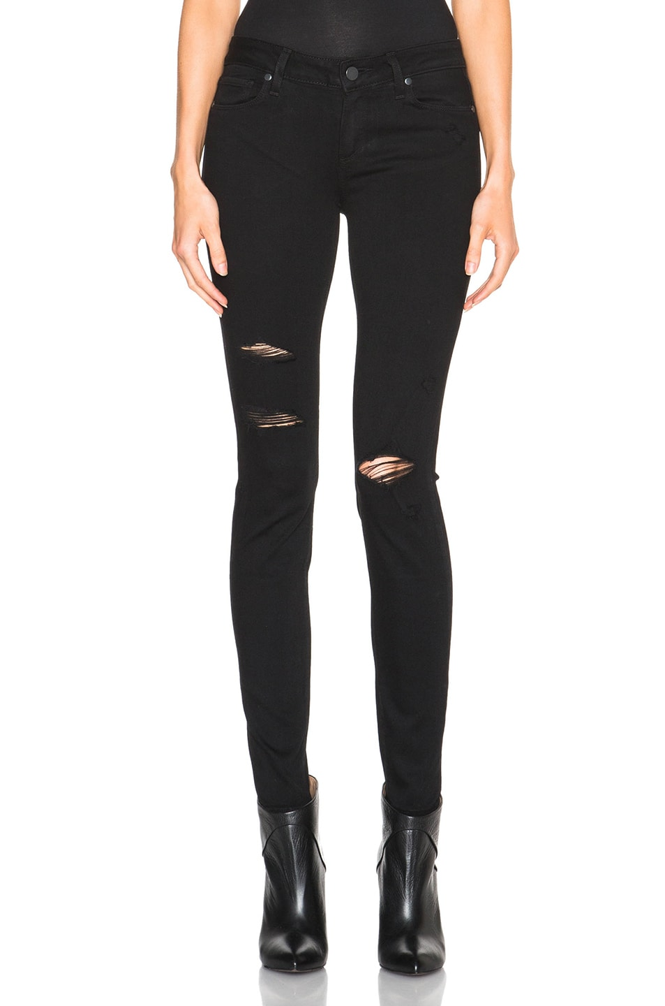 Image 1 of PAIGE Verdugo Ultra Skinny in Black Shadow Destructed