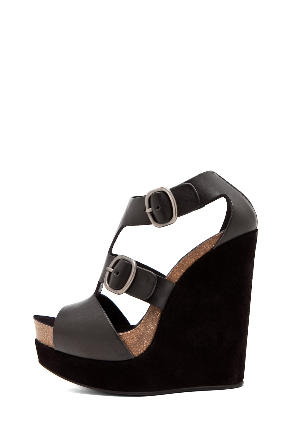 Image 1 of Pedro Garcia Cherise Wedge in Black