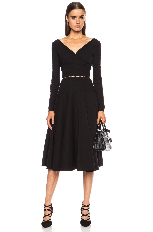 Image 1 of Preen by Thornton Bregazzi Hayden Acetate-Blend Dress in Black