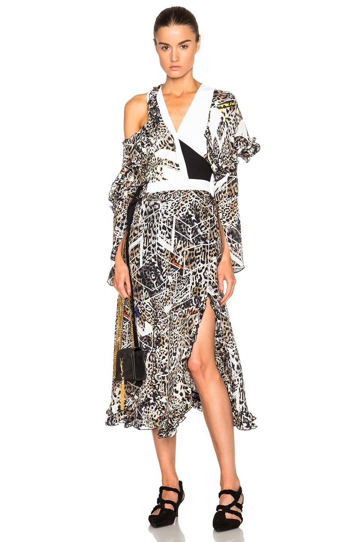 Image 1 of Preen by Thornton Bregazzi Arcane Dress in Leopard
