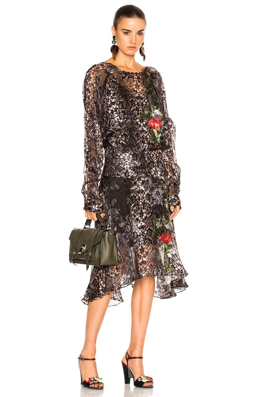 Image 2 of Preen by Thornton Bregazzi Selina Dress in Rose Python