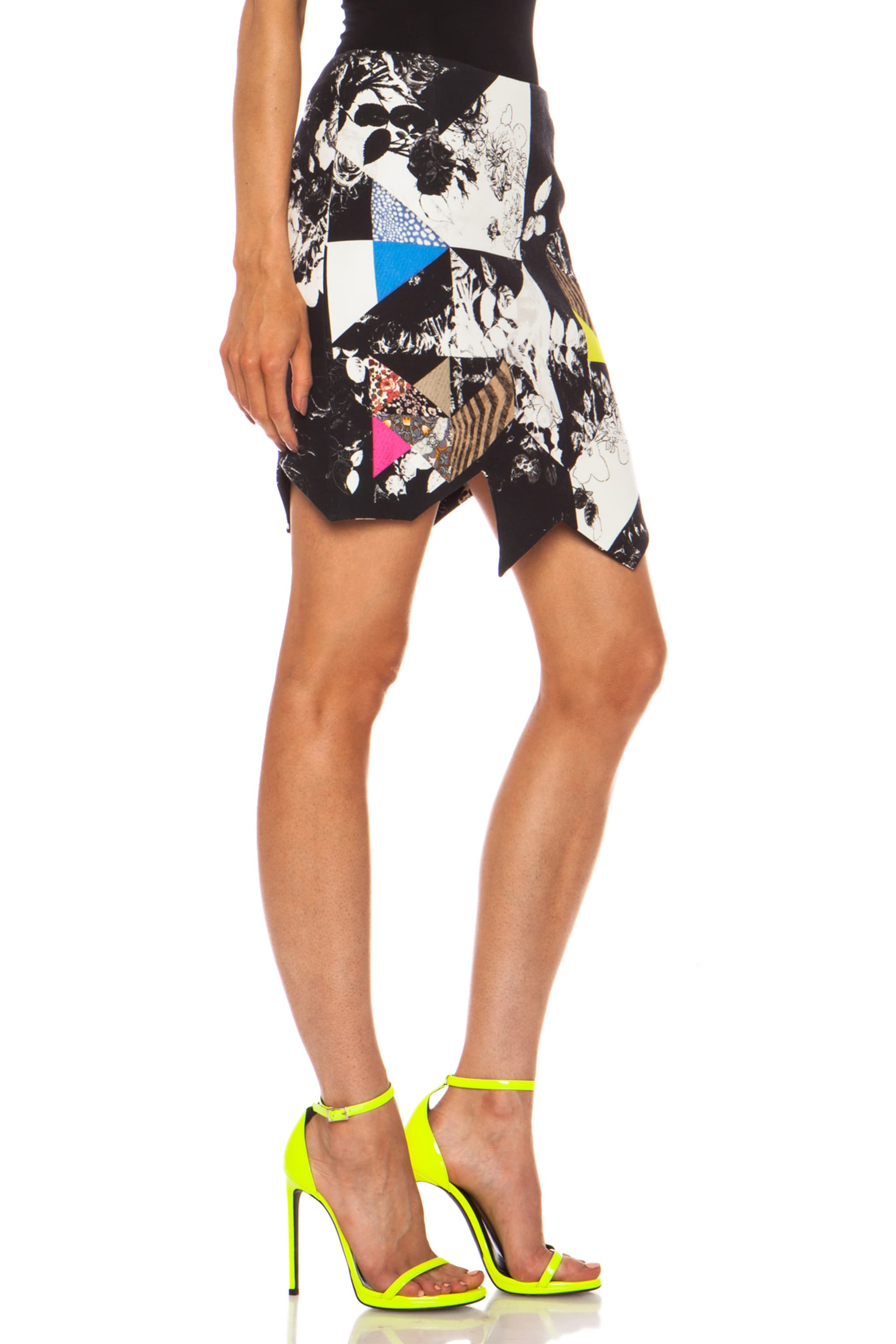 Image 3 of Preen by Thornton Bregazzi Preen Patchwork Cotton-Blend Quilt Skirt in Multi