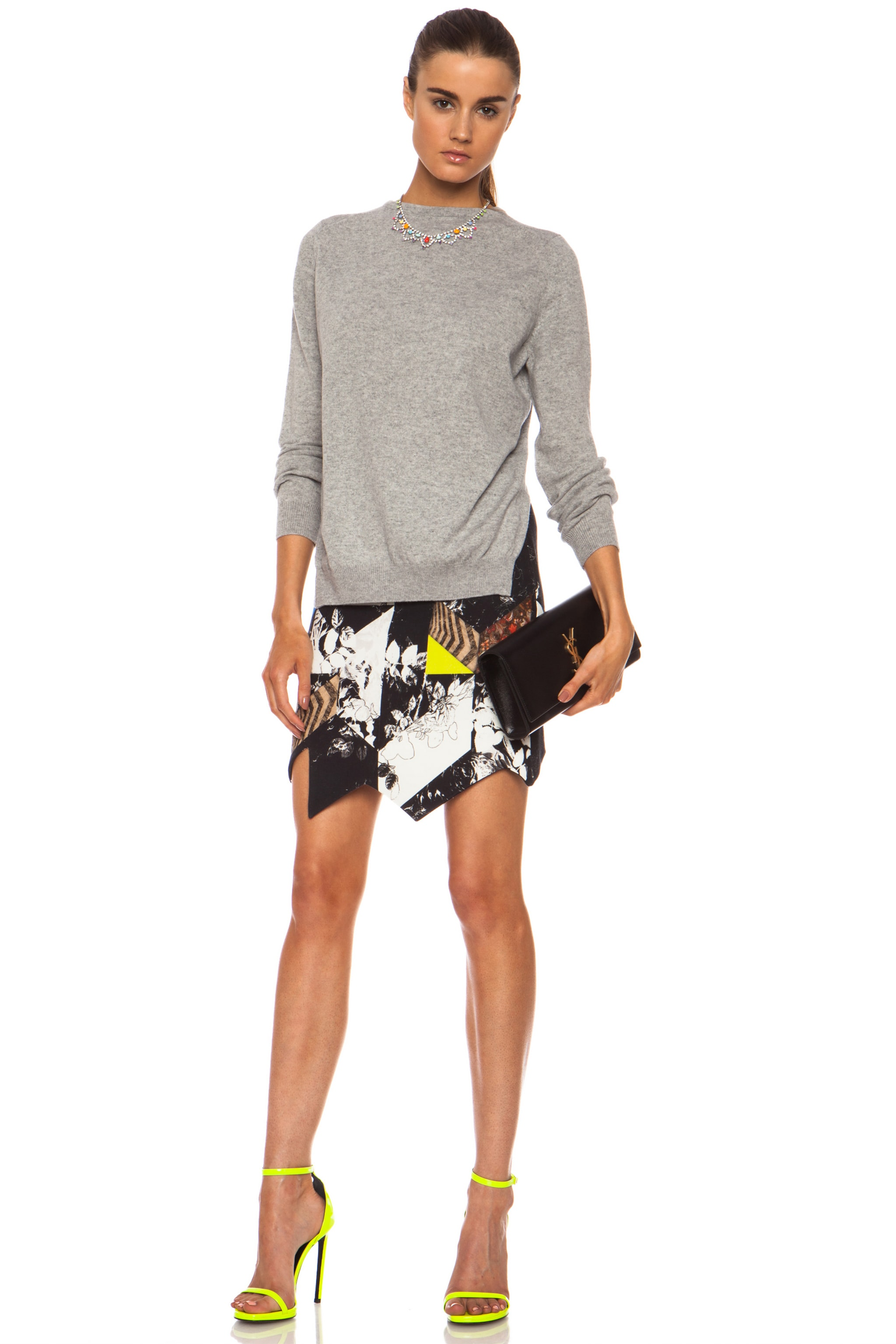 Image 5 of Preen by Thornton Bregazzi Preen Patchwork Cotton-Blend Quilt Skirt in Multi