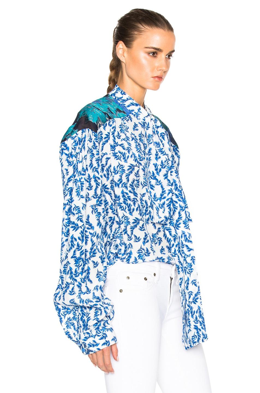 Image 3 of Preen by Thornton Bregazzi Corina Top in Blue & Sky Leaf