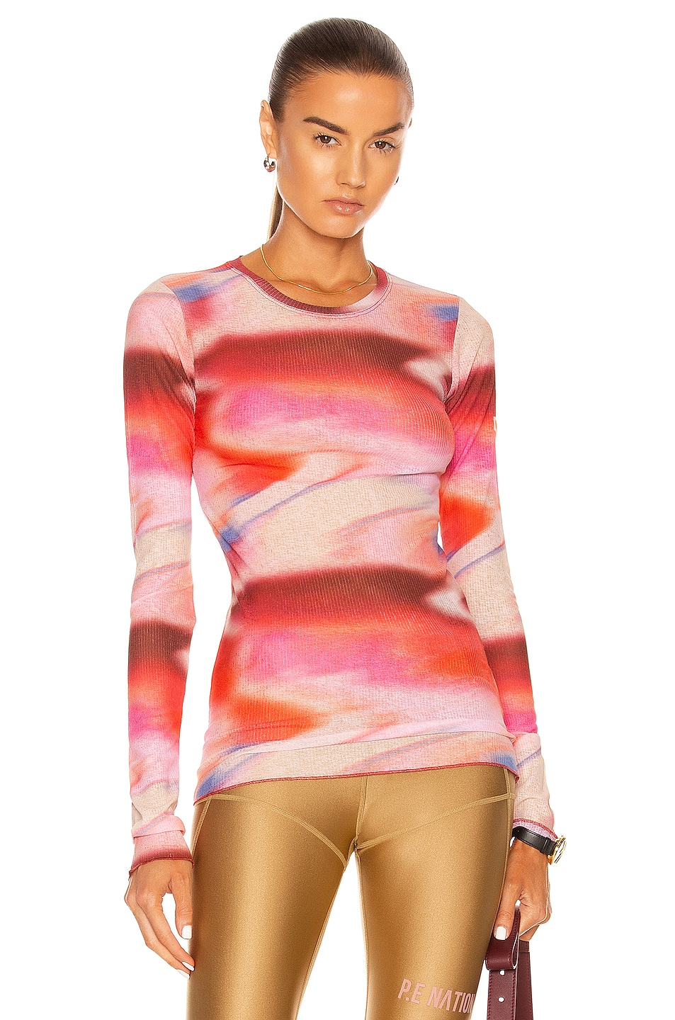 Image 1 of P.E Nation Upfield Long Sleeve Top in Print