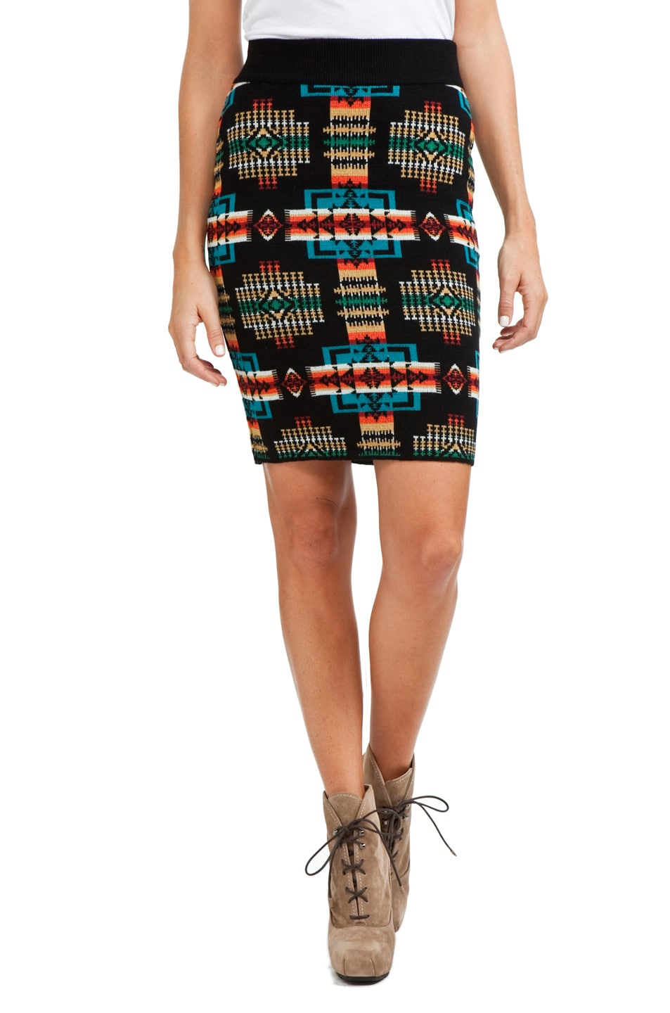 Image 1 of PENDLETON x Opening Ceremony Tribal Pencil Skirt in Turquoise