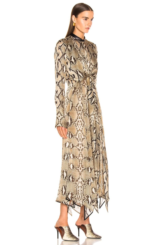 Image 2 of Petar Petrov Delhi Dress in Natural Python