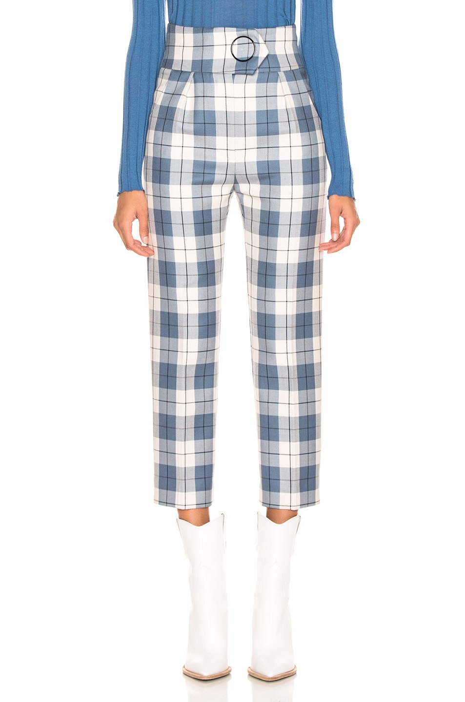 Image 1 of Petar Petrov Hansville Pant in Blue Check