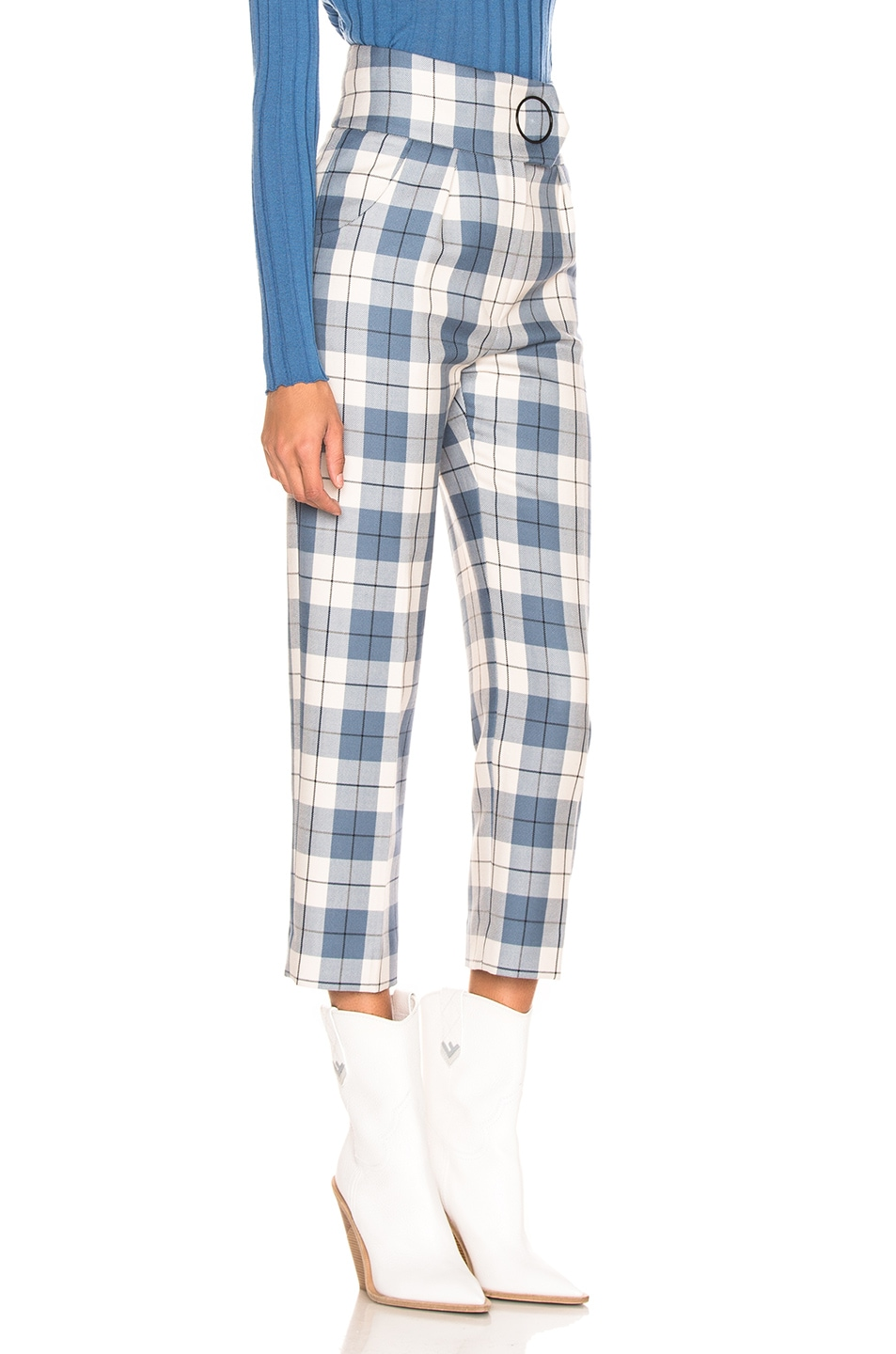Image 2 of Petar Petrov Hansville Pant in Blue Check
