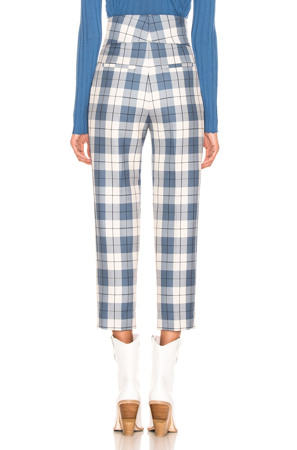 Image 3 of Petar Petrov Hansville Pant in Blue Check