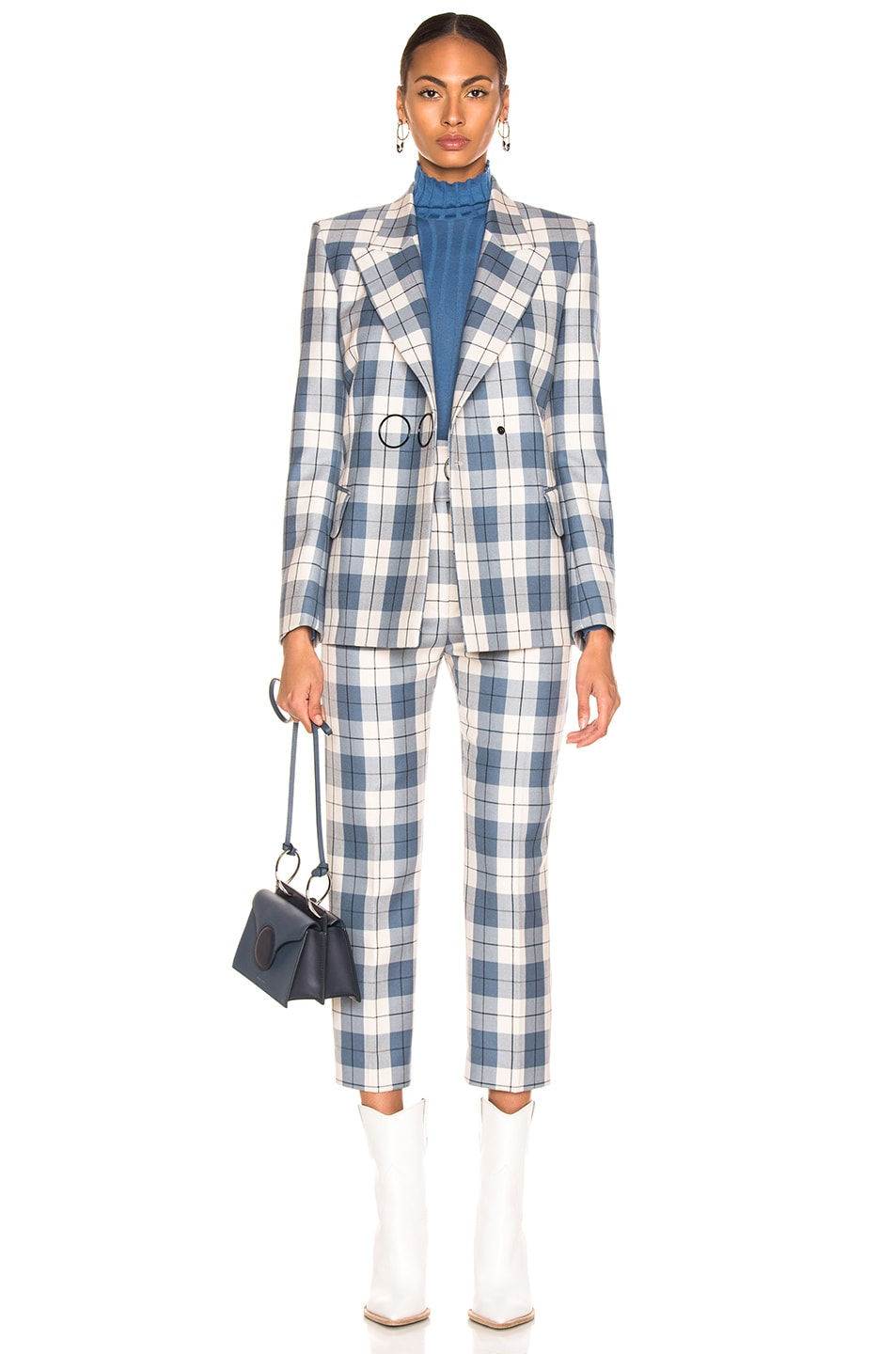 Image 4 of Petar Petrov Hansville Pant in Blue Check
