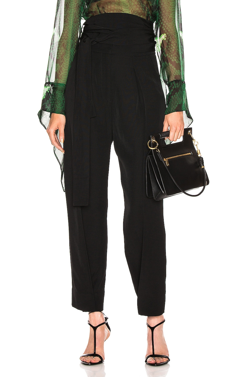 Image 1 of Petar Petrov Hallet High Waist Pant in Black