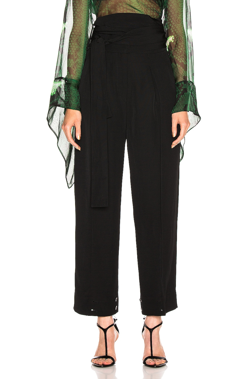 Image 2 of Petar Petrov Hallet High Waist Pant in Black