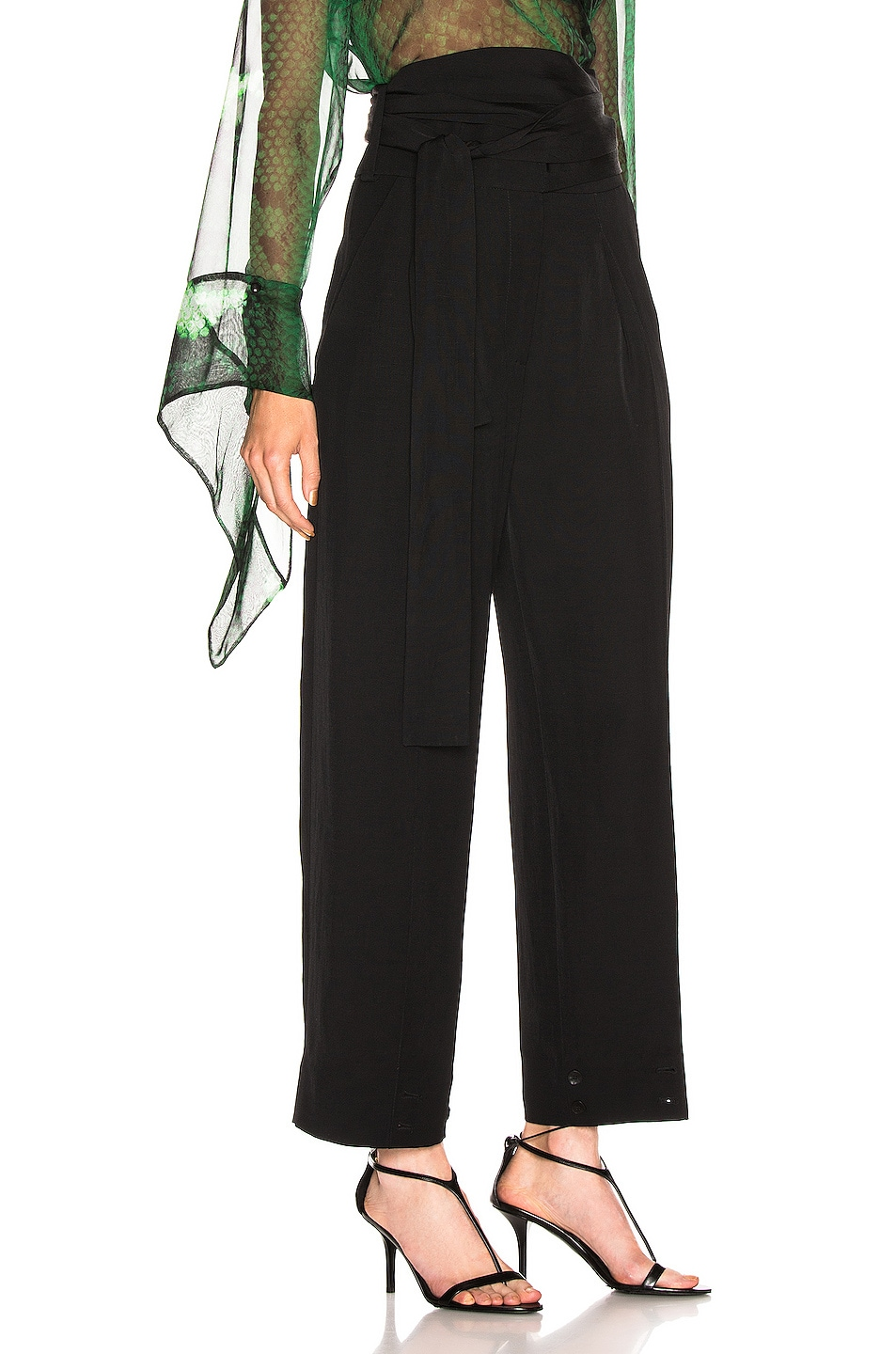Image 3 of Petar Petrov Hallet High Waist Pant in Black