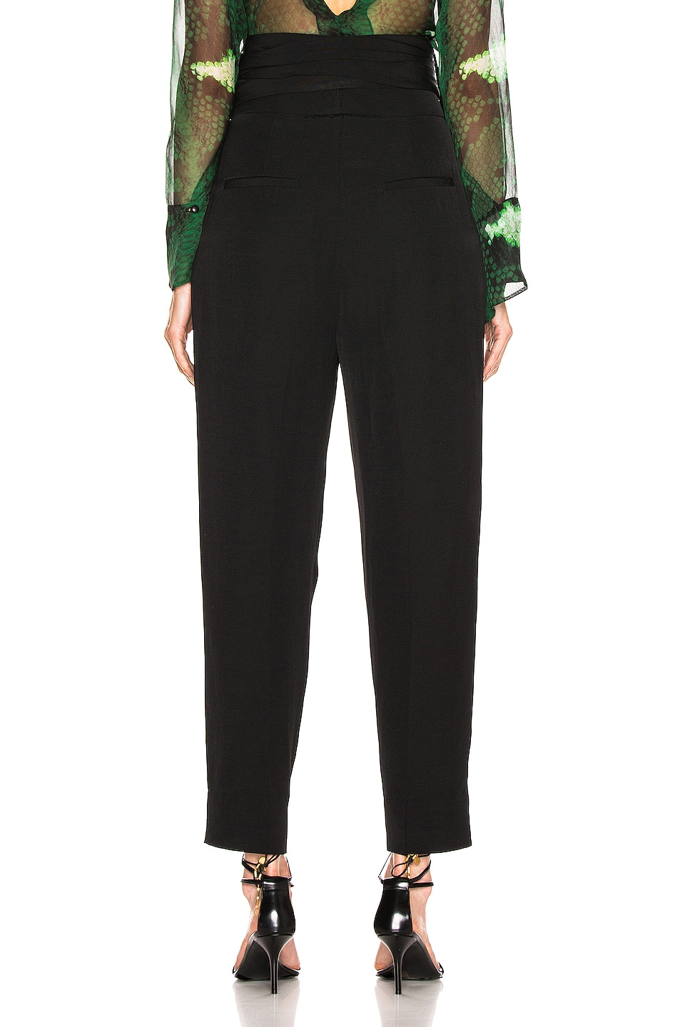 Image 4 of Petar Petrov Hallet High Waist Pant in Black