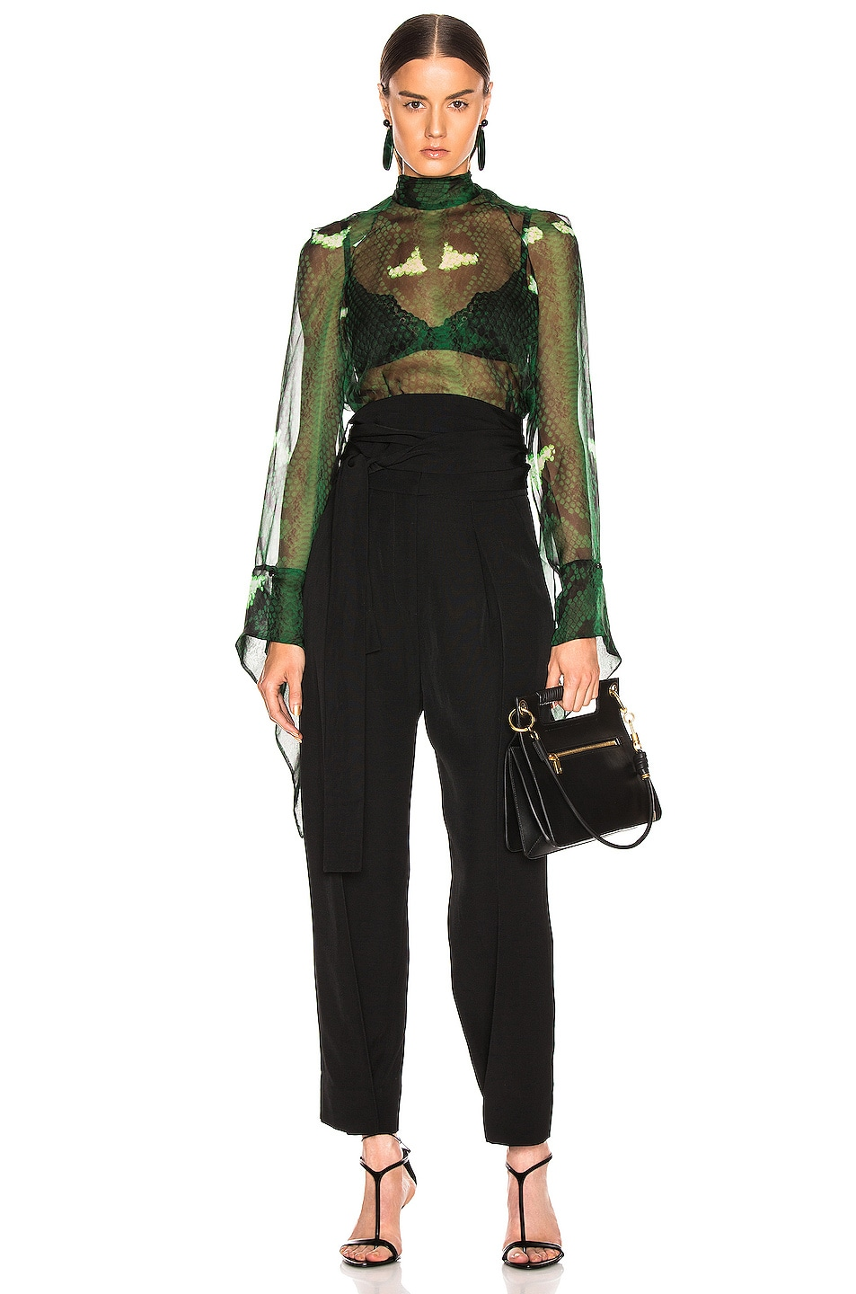 Image 5 of Petar Petrov Hallet High Waist Pant in Black