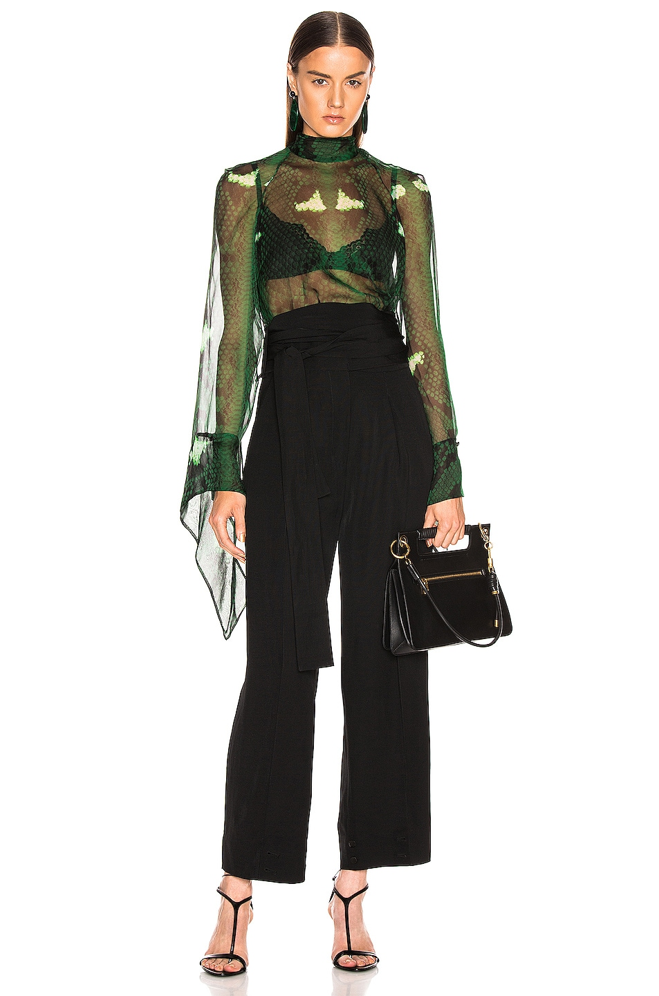 Image 1 of Petar Petrov Barry Blouse in Green Snake