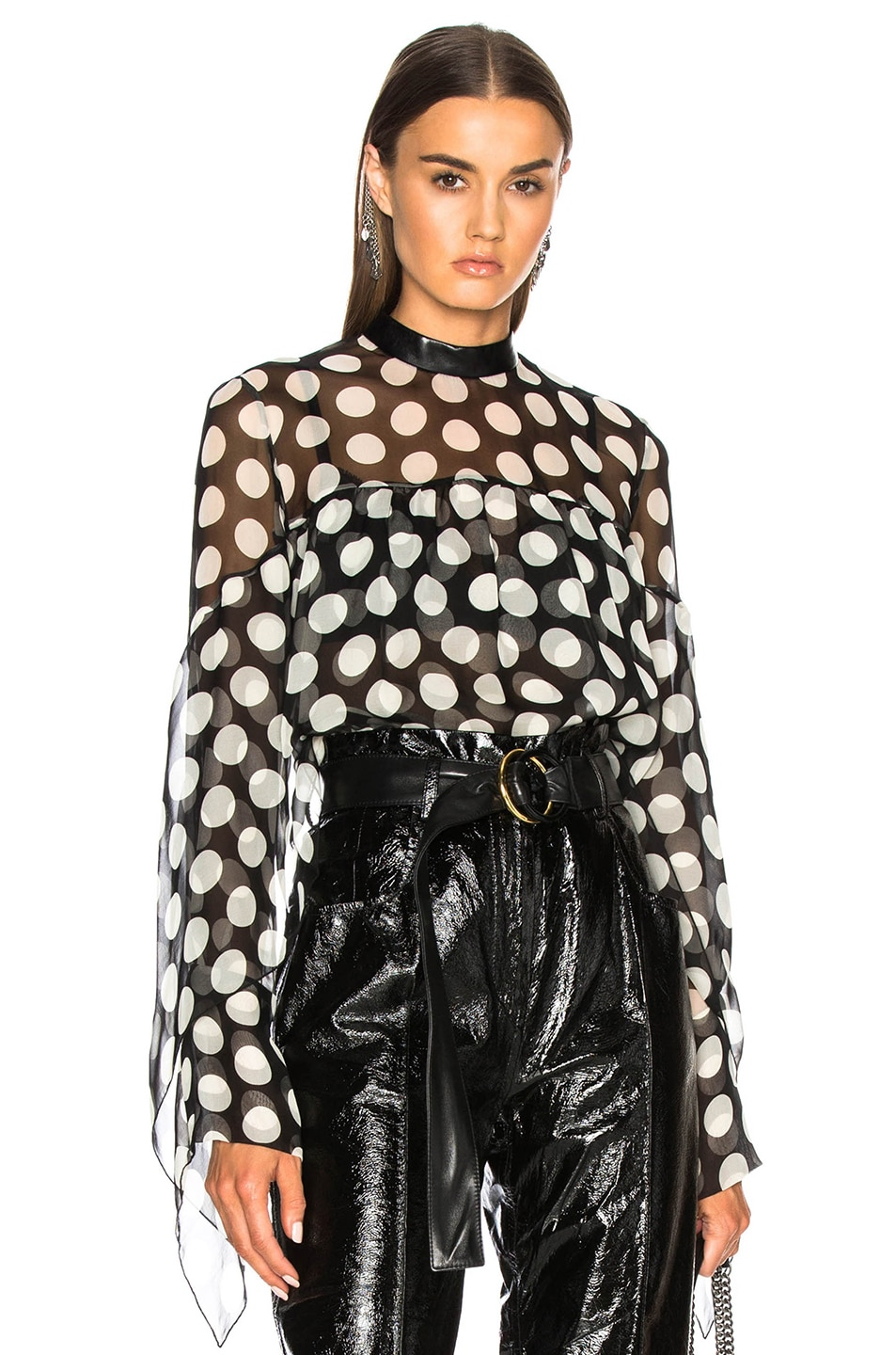 Image 1 of Petar Petrov Elah Blouse in White & Black
