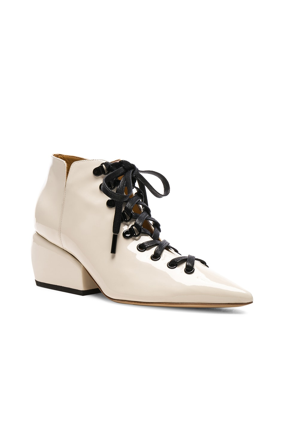 PETAR PETROV Patent Leather Sacha Boots in . hGEsiENT