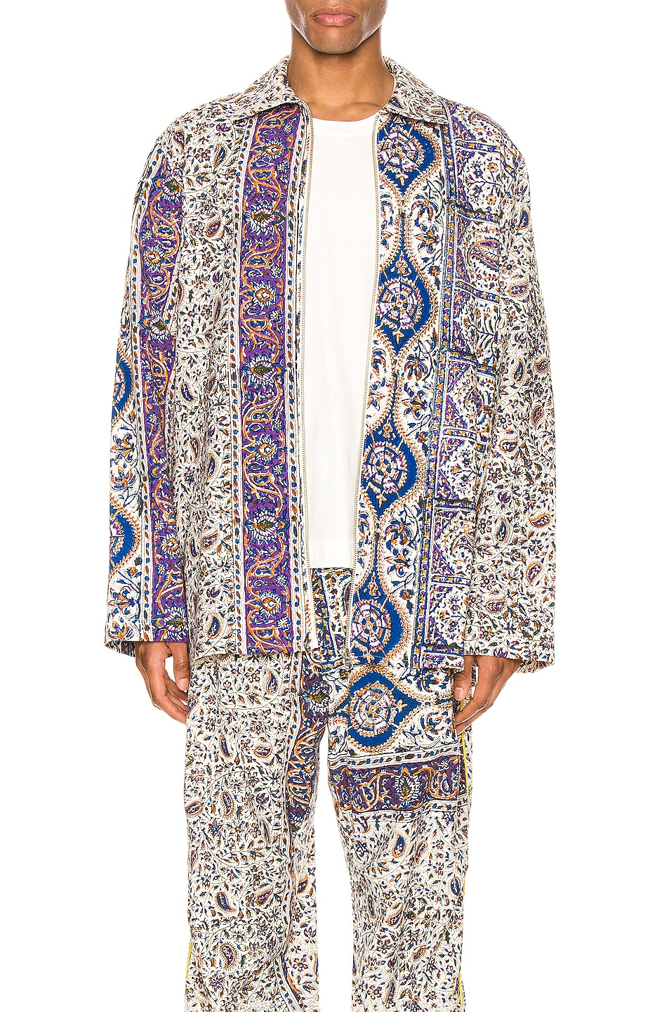 Image 1 of Paria Farzaneh Iranian Print Overshirt in Multi