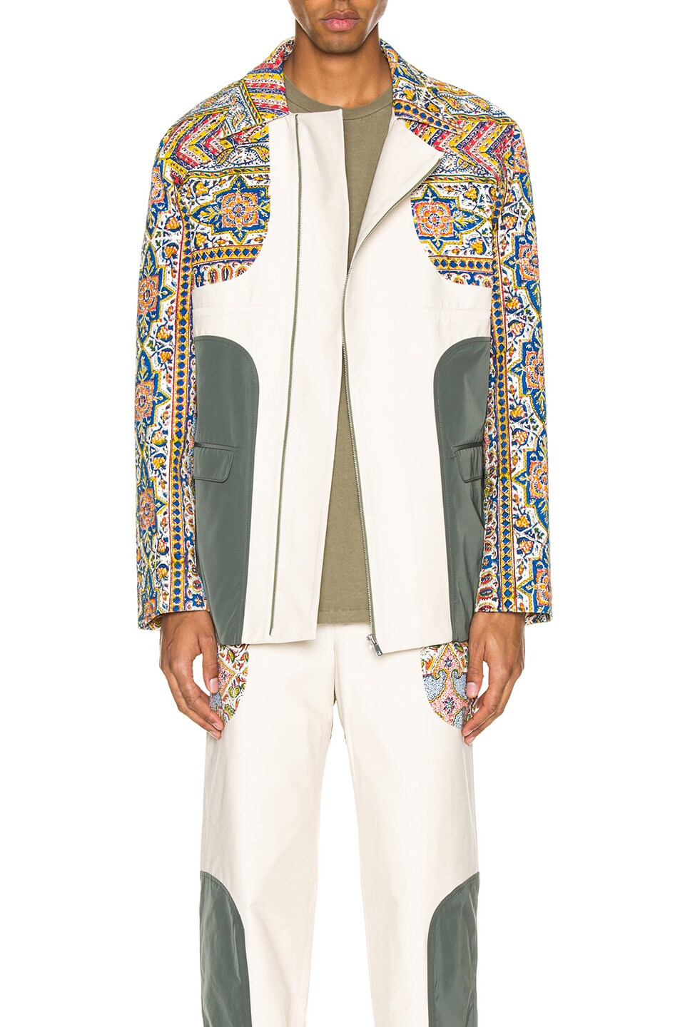 Image 1 of Paria Farzaneh Iranian Print Panel Suit Jacket in Multi