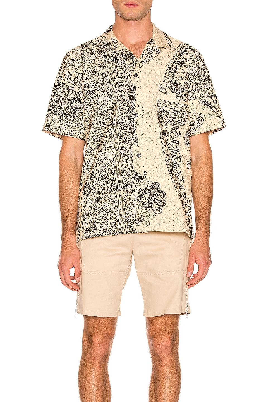 Image 1 of Paria Farzaneh Monochrome Print Hawaiian Shirt in Natural