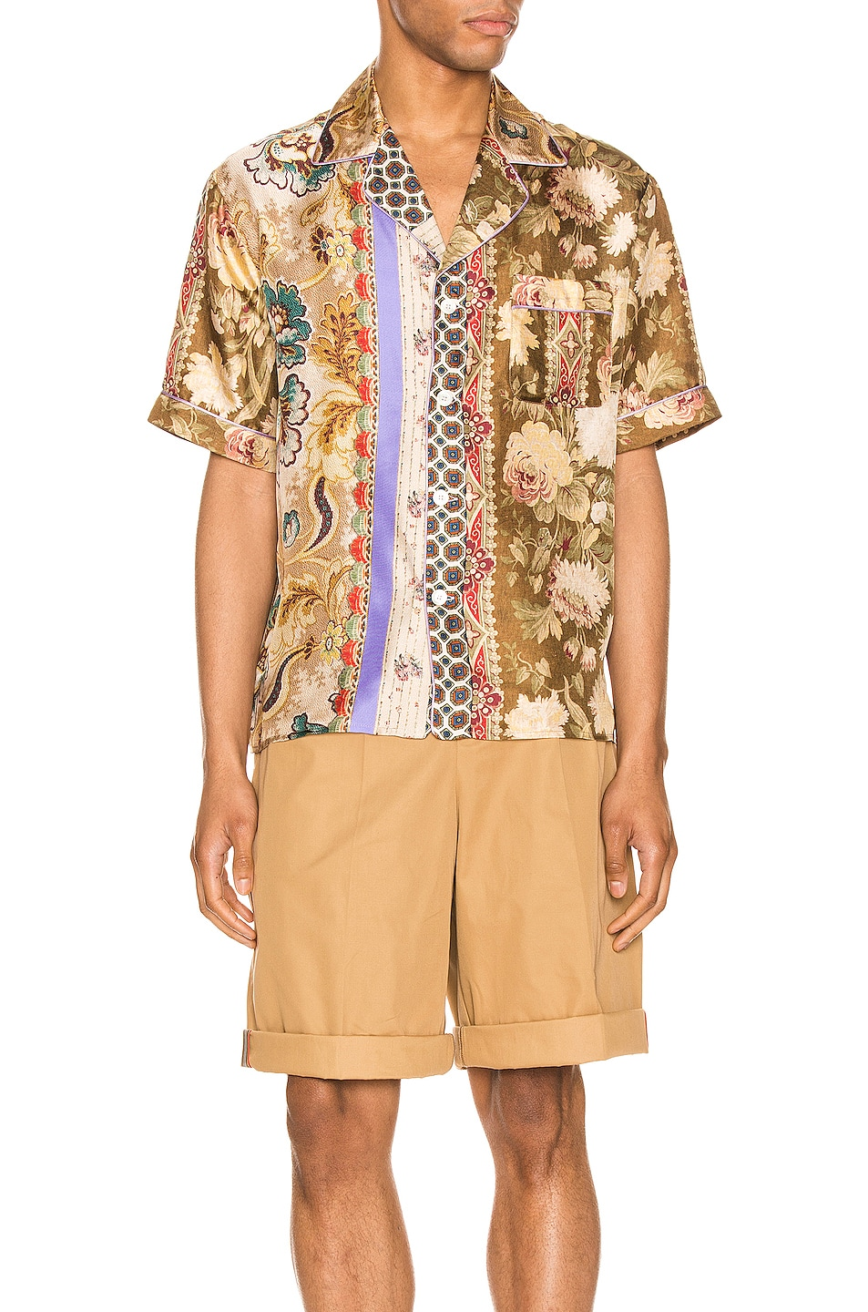 Image 1 of Pierre-Louis Mascia Short Sleeve Shirt in Multi
