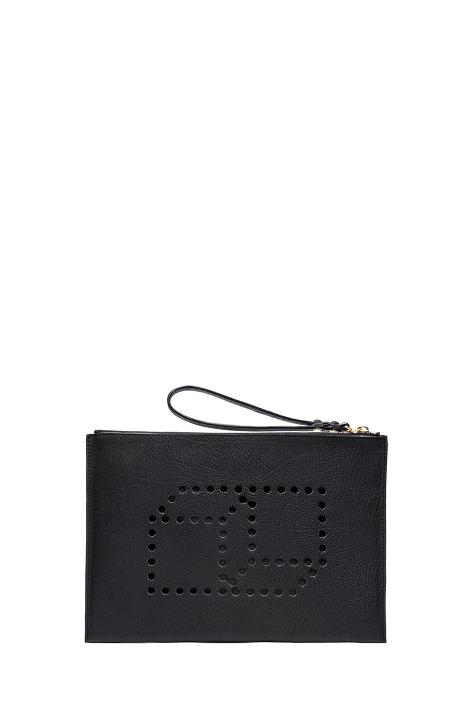 Image 1 of Pierre Hardy Large Grain Leather Pouch in Black