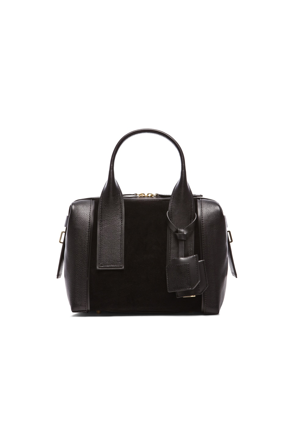 Image 1 of Pierre Hardy Leather & Suede Duffel Bag in Black