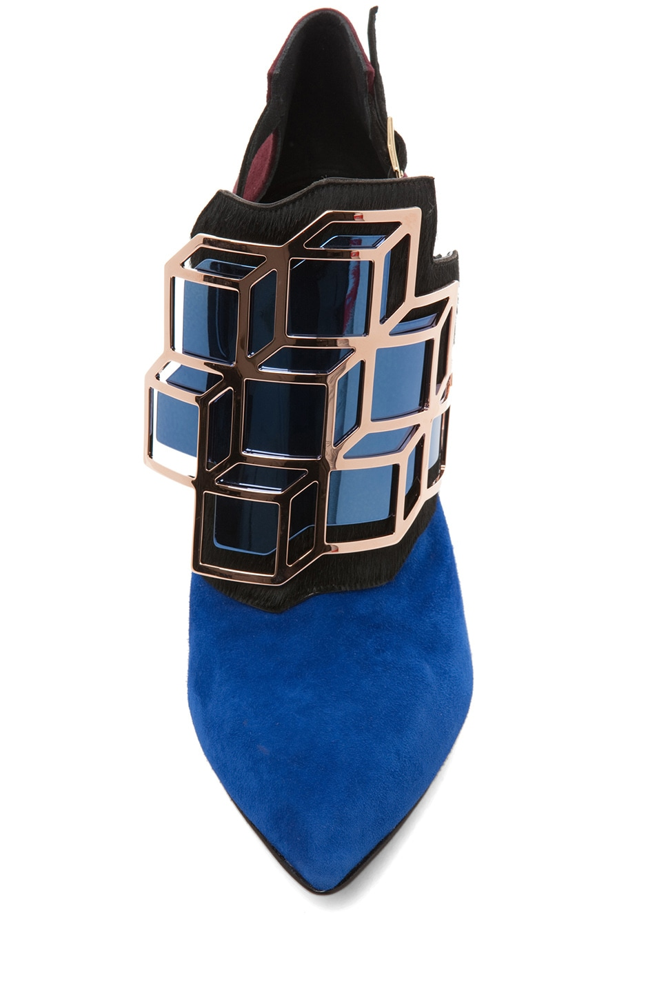 Image 4 of Pierre Hardy Suede Cube Bootie in Trico
