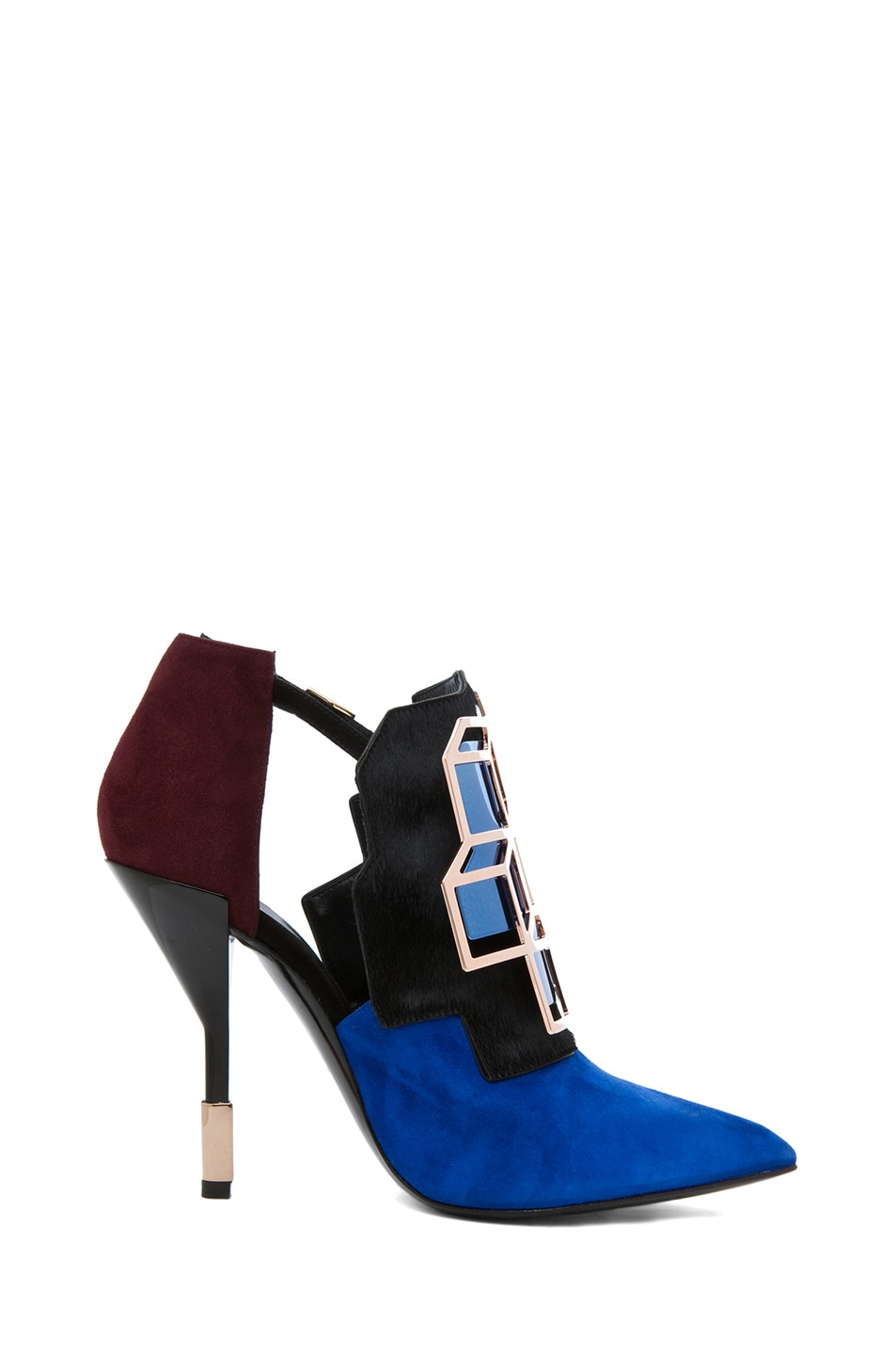 Image 5 of Pierre Hardy Suede Cube Bootie in Trico