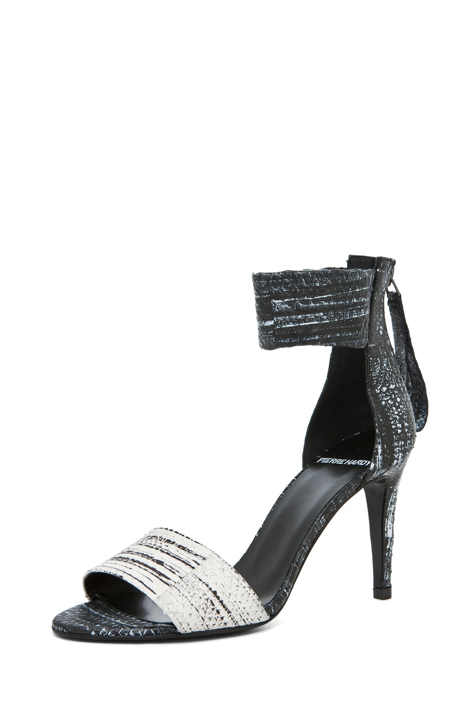 Image 2 of Pierre Hardy Cruise Water Snake Sandal in White & Black