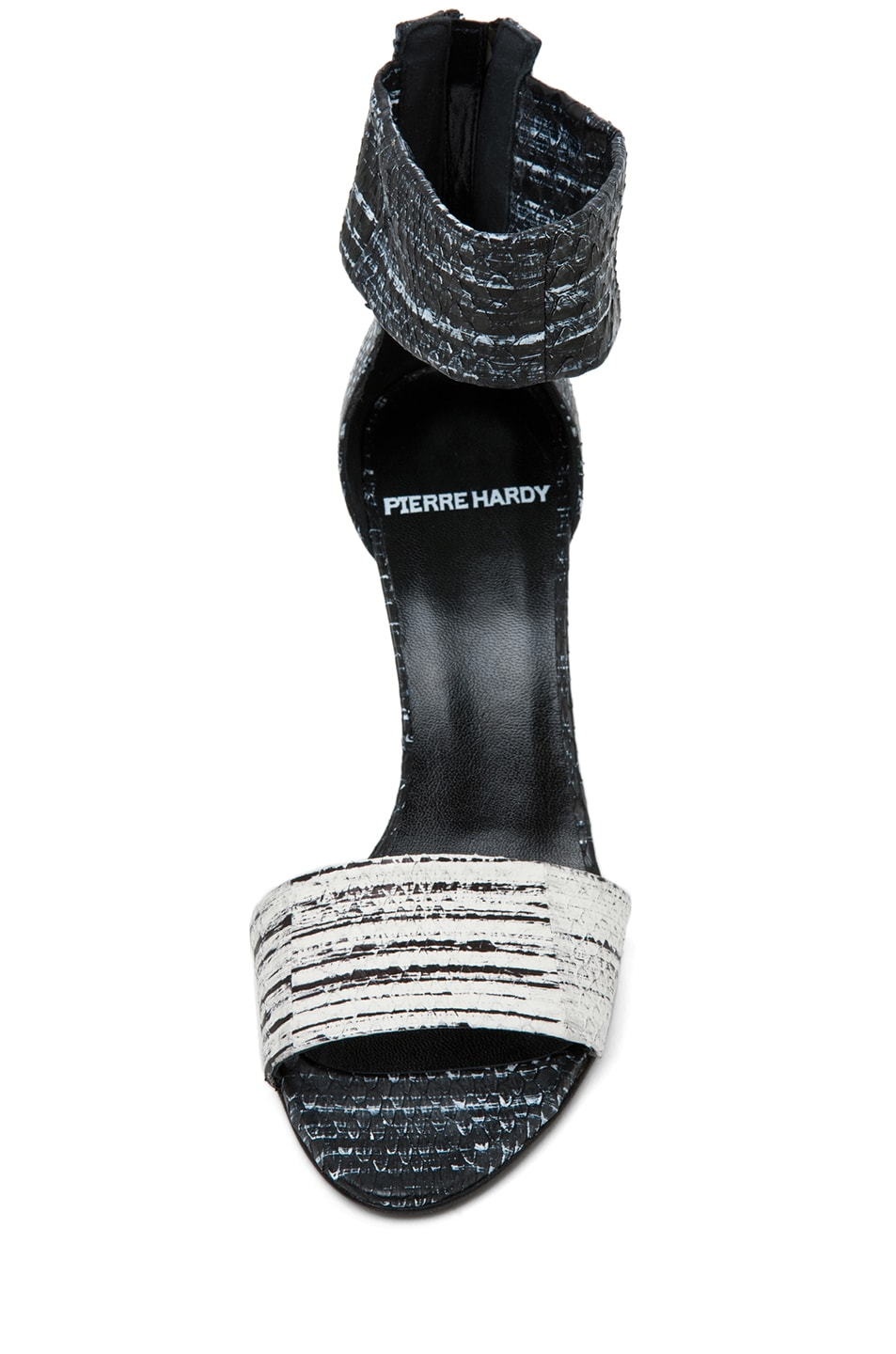 Image 4 of Pierre Hardy Cruise Water Snake Sandal in White & Black