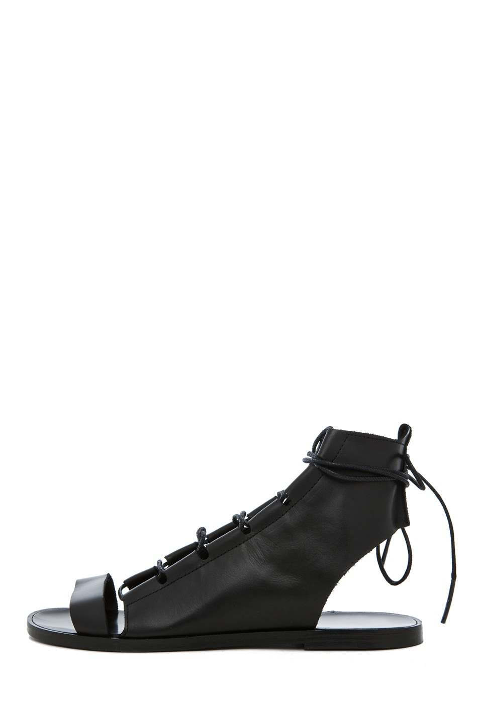 Image 1 of Pierre Hardy Gladiator Leather Sandals in Black