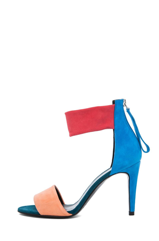 Image 1 of Pierre Hardy Suede Sandals in Quadri Peach