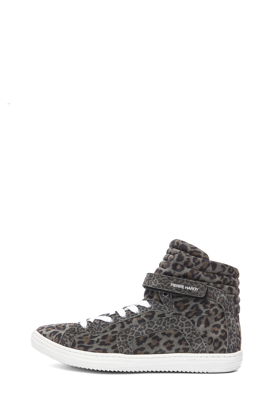 Image 1 of Pierre Hardy Suede Sneakers in Grey