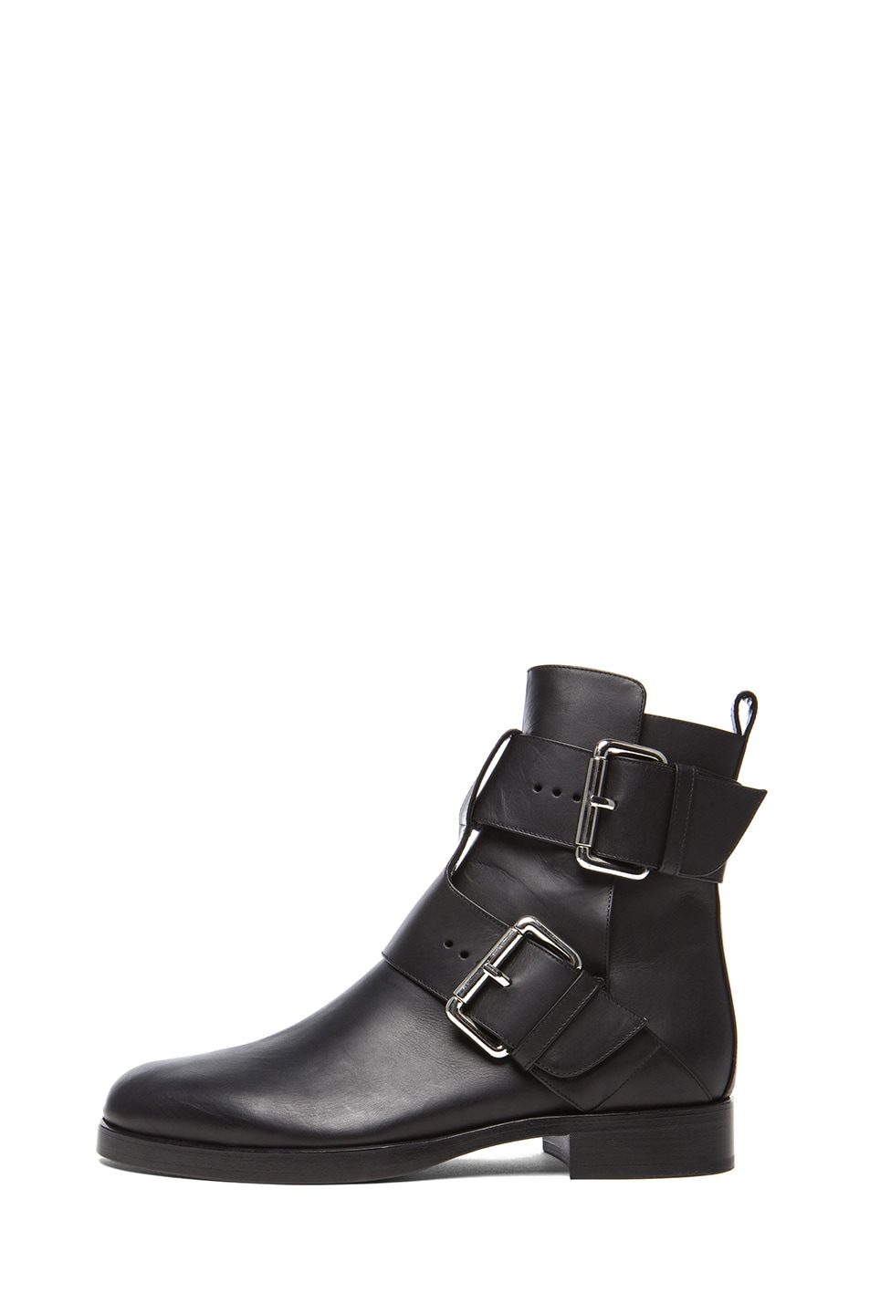 Image 1 of Pierre Hardy Matte Calfskin Leather Booties in Black