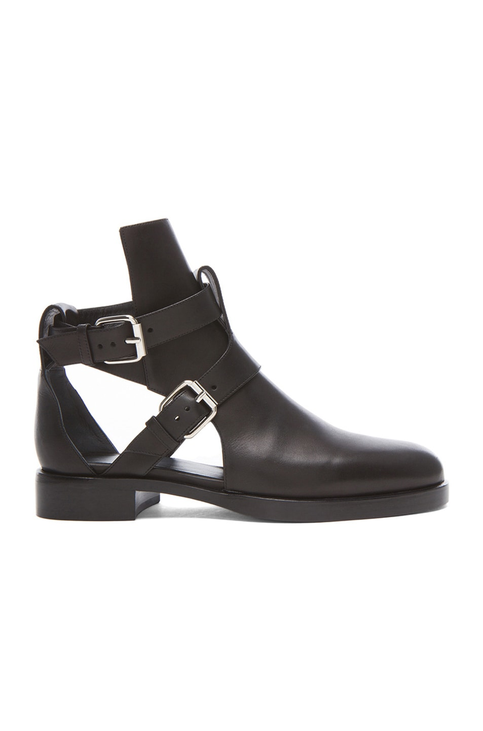 Image 1 of Pierre Hardy Strap Calfskin Leather Booties in Black