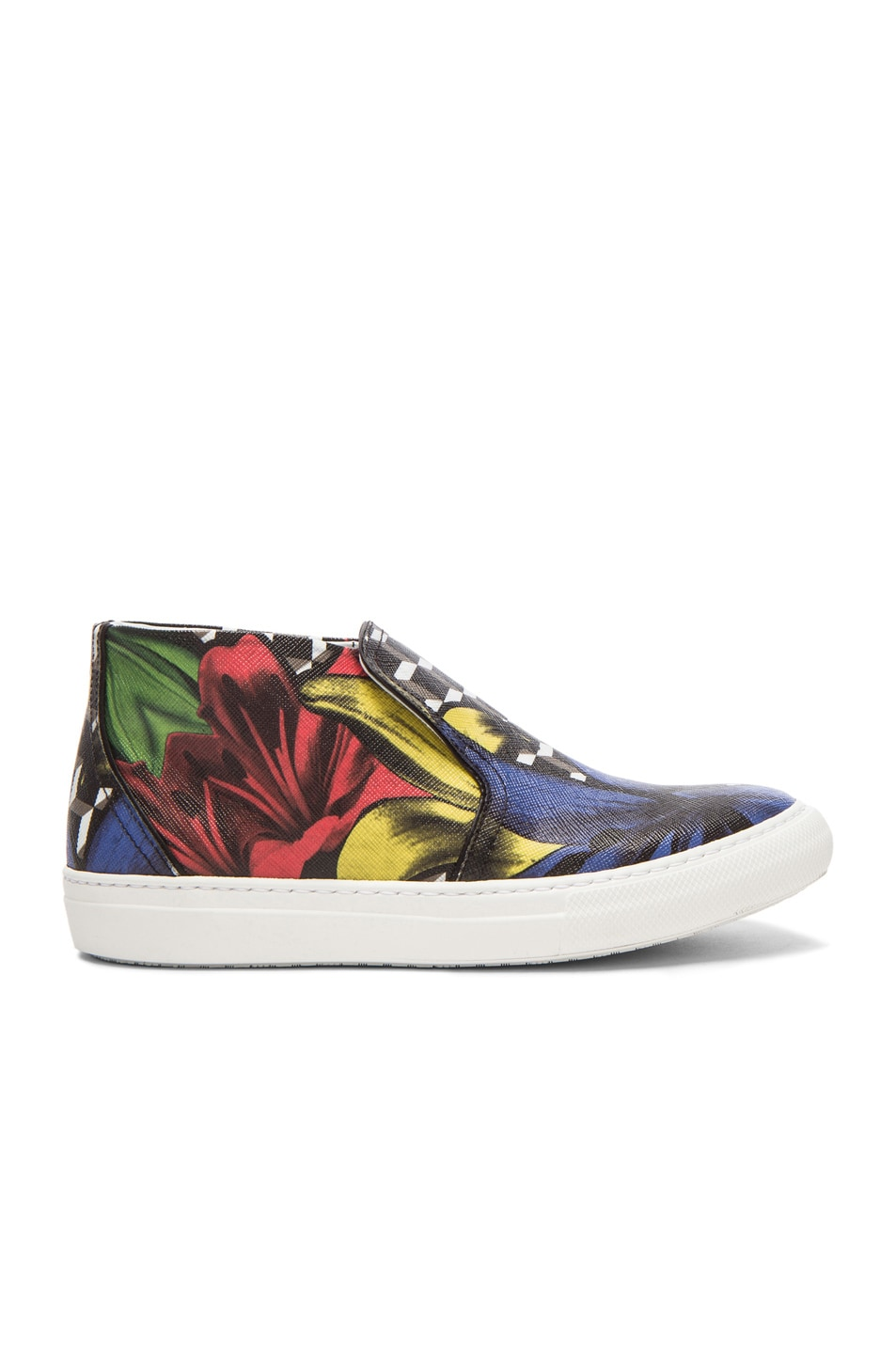 Image 1 of Pierre Hardy Coated Canvas Lily Cube Sneakers in Primary