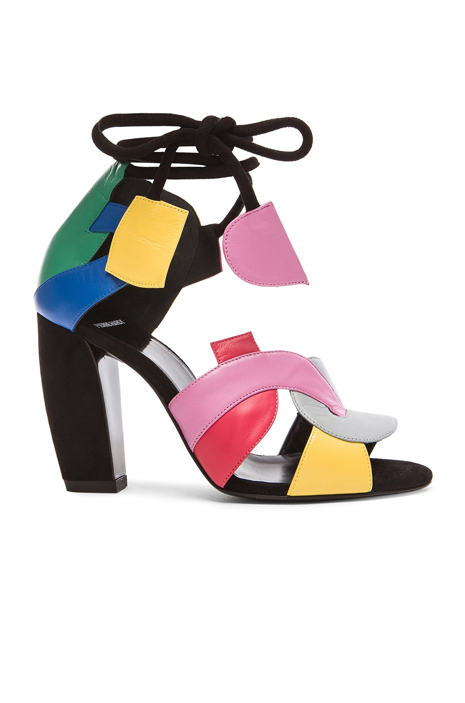 Image 1 of Pierre Hardy Atelier Tricolor Leather Heels in Multico