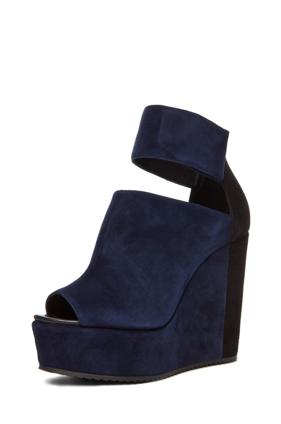 Image 1 of Pierre Hardy Colorblocked Wedge in Navy