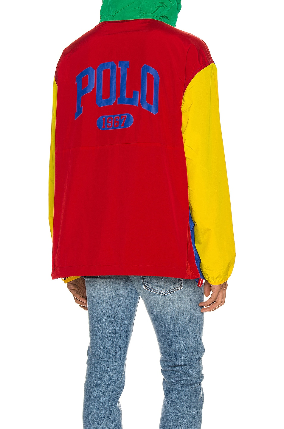 Image 1 of Polo Ralph Lauren Freestyle Nylon Hoodie in RL2000 Red & Rugby Royal