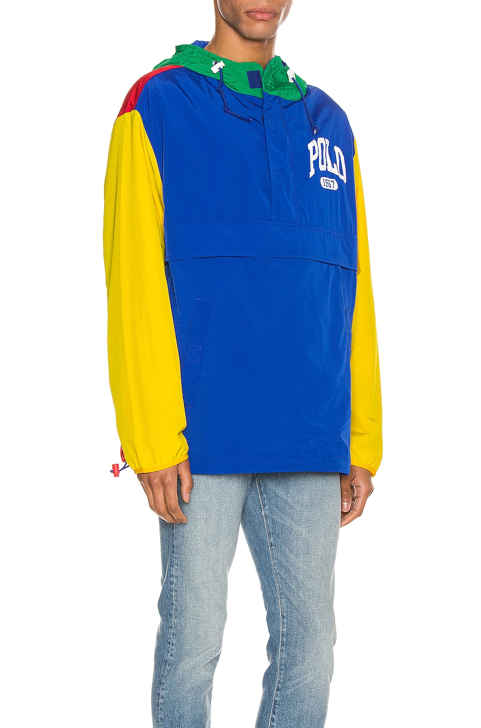 Image 3 of Polo Ralph Lauren Freestyle Nylon Hoodie in RL2000 Red & Rugby Royal