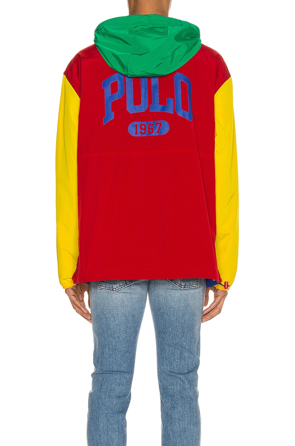 Image 4 of Polo Ralph Lauren Freestyle Nylon Hoodie in RL2000 Red & Rugby Royal