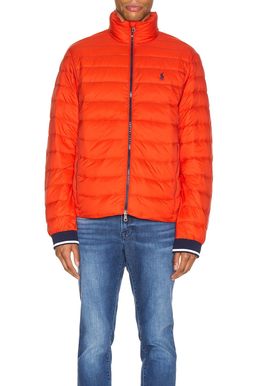 Image 2 of Polo Ralph Lauren Lightweight Packable Down Jacket in Bittersweeet